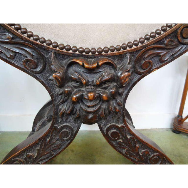 19th Century Continental Renaissance Style Carved Chair For Sale - Image 4 of 9