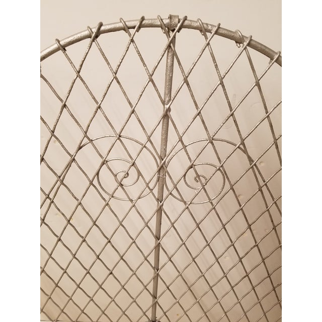 Victorian Wire Garden Settee or Bench For Sale - Image 4 of 5