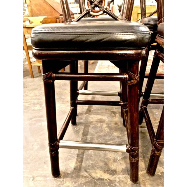1980s McGuire Bar Stools For Sale - Image 5 of 10