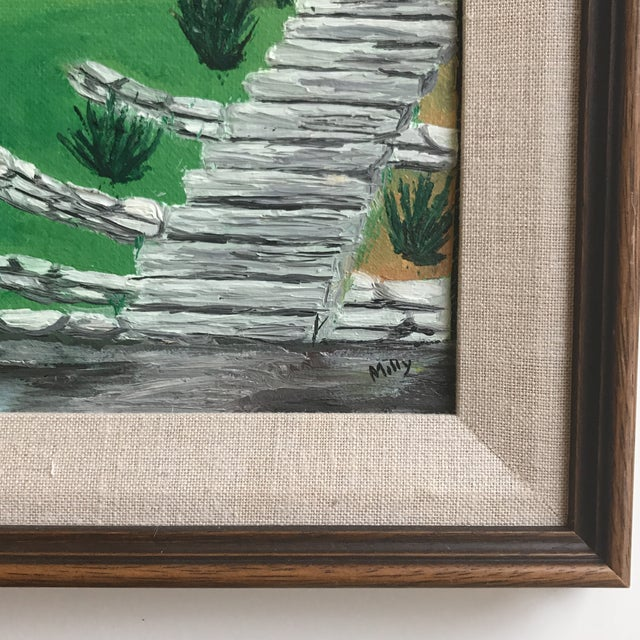Farmhouse Mid Century House Painting by Milly For Sale - Image 3 of 8