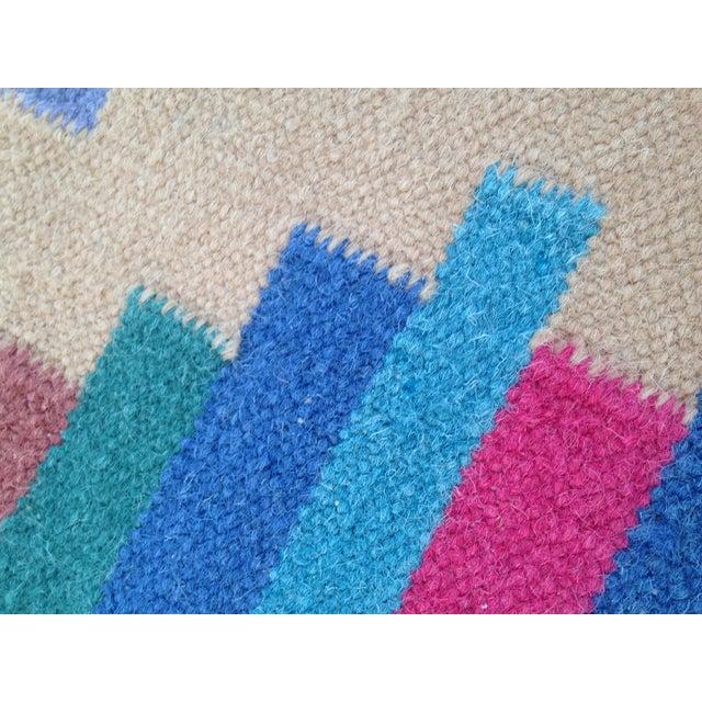 Flat Woven Wool Kilim Rug- 6' x 9' - Image 6 of 10