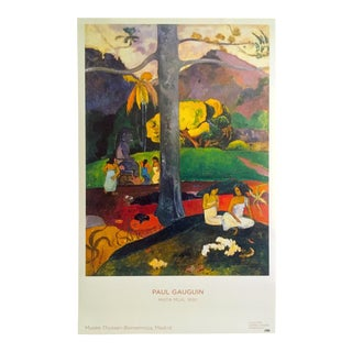 "Paul Gauguin Museo Thyssen Madrid Lithograph Print Museum Poster ""Mata Mua"" 1892 For Sale"