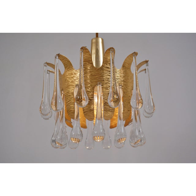 Palwa Ernst Palme Pendants for Palwa Gilt Brass & Crystal, 1960's, German - a Pair For Sale - Image 4 of 13