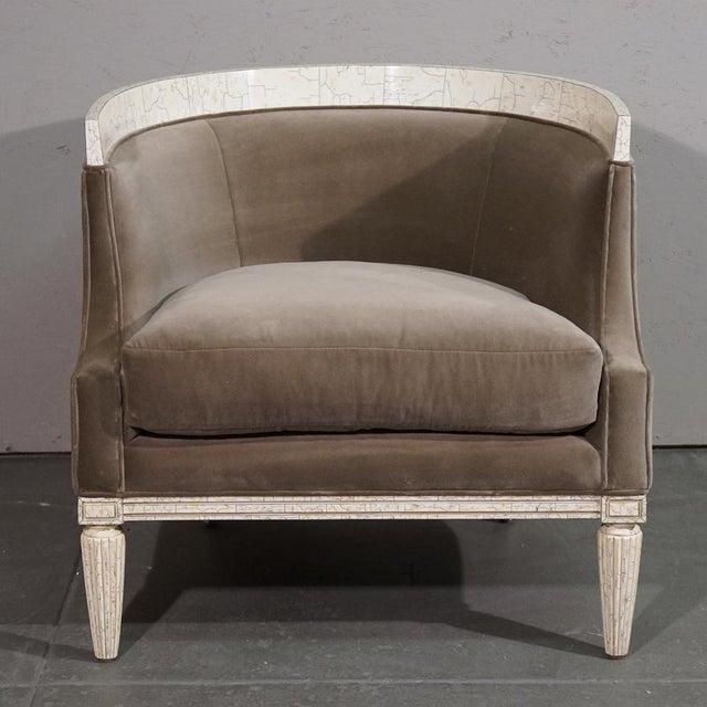 Velvet Barrel Chair - Image 6 of 8