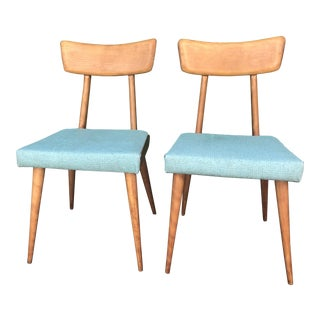 Mid Century Modern Maple Dining Chairs- A Pair For Sale