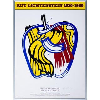 1981 Roy Lichtenstein Seattle Art Museum Poster, Framed For Sale