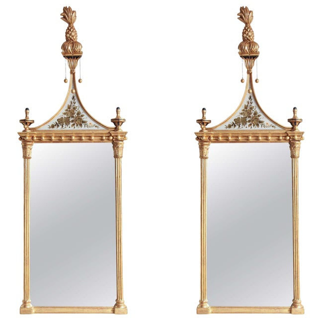 Pair of Federal Pier Mirrors For Sale