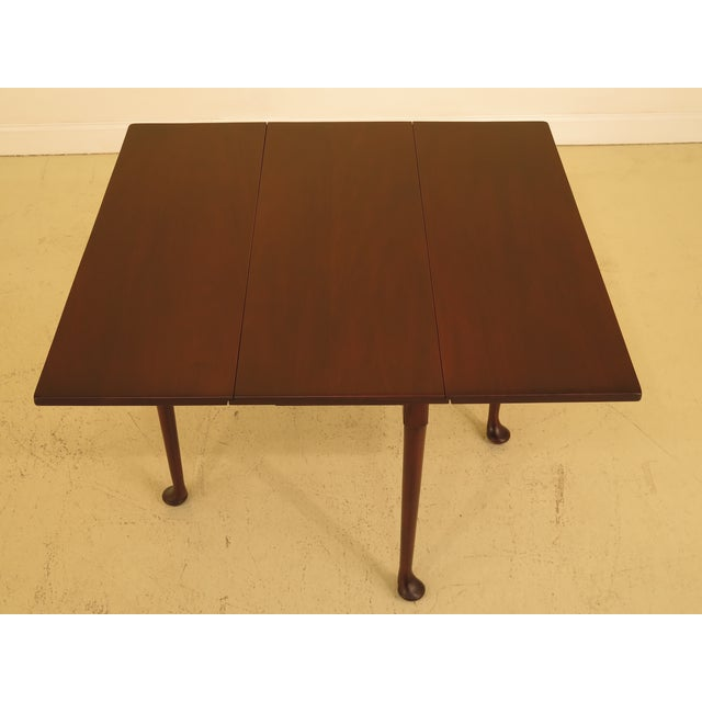 Kittinger Wa 1022 Colonial Williamsburg Mahogany Drop Leaf Table For Sale In Philadelphia