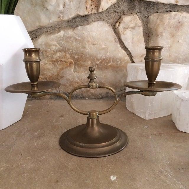 English Brass Candelabra - Image 3 of 8