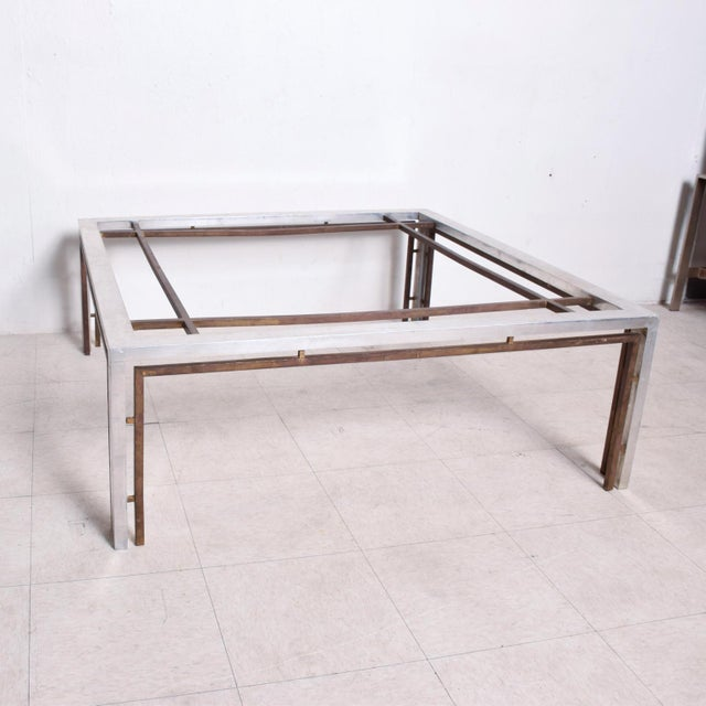 Mid Century Mexican Modernist Large Coffee Table Arturo Pani Aluminum Bronze For Sale - Image 9 of 9