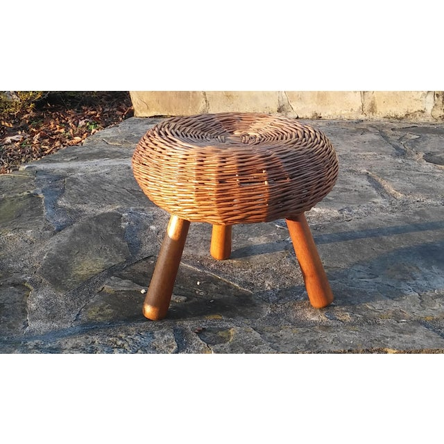 1960s 1960s Vintage Tony Paul Tri-Pod Stool For Sale - Image 5 of 6