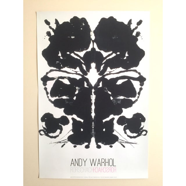 "Andy Warhol Original Lithograph Print Pop Art Poster ""Rorschach Ink Blot"", 1984 - Image 6 of 7"