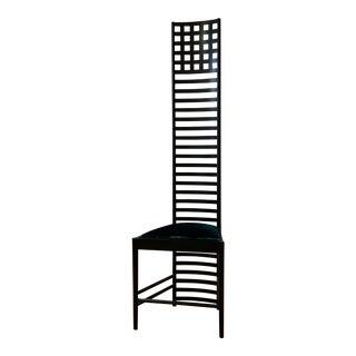 1960s Vintage Charles Rennie Mackintosh for Cassina Italian Silk Velvet 292 Hill House 1 Chair For Sale