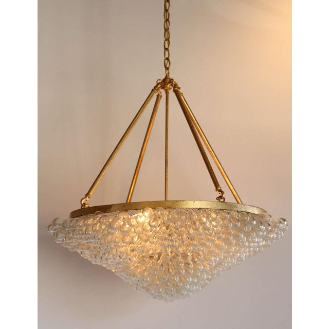Large Blown Glass Beaded Chandelier - Image 9 of 9