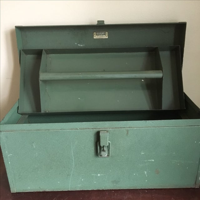 Vintage Green Kennedy Tool Box For Sale - Image 5 of 11