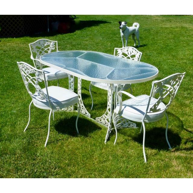 Mid Century O W Lee Patio Furniture Set 5 Pieces Chairish