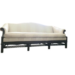 Mid 19th Century Antique Chinese Chippendale Sofa For Sale