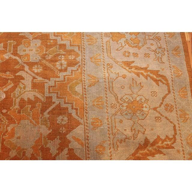 Textile Antique Turkish Oushak Rug - 9′ × 12′ For Sale - Image 7 of 12