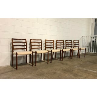 1990s Vintage Niels J Moller Model 85 Brazilian Rosewood Danish Dining Chairs- Set of 6 Preview