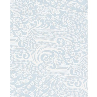 Sample - Schumacher Mizu Wallpaper in Sky For Sale
