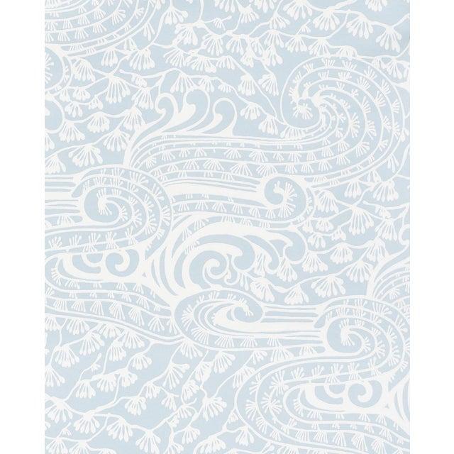 Sample - Schumacher Mizu Wallpaper in Sky For Sale