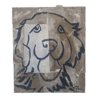 """""""Golden"""" Dog Painting For Sale"""