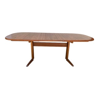 Skovmand & Andersen Danish Teak Dining Table With Trestle Base For Sale