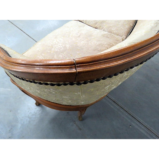 Wood Antique Louis XV Style Settee For Sale - Image 7 of 10