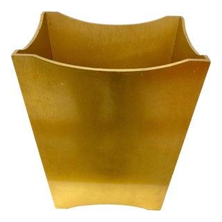 Vintage Gold Leaf Vanity Wastebasket