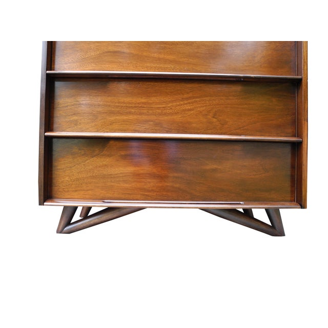 Mid-Century Modern Highboy or Tall Dresser by Edmond J. Spence For Sale - Image 9 of 10