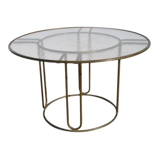 Mid-Century Bronze Outdoor Indoor Patio Table by Walter Lamb and Brown J For Sale