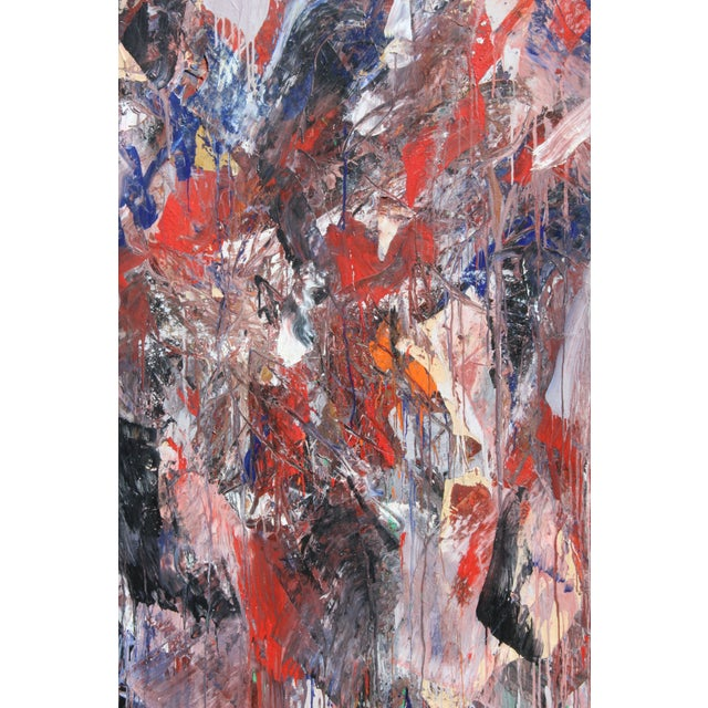 Monumental Abstract Oil on Canvas Signed Dehais For Sale - Image 4 of 10