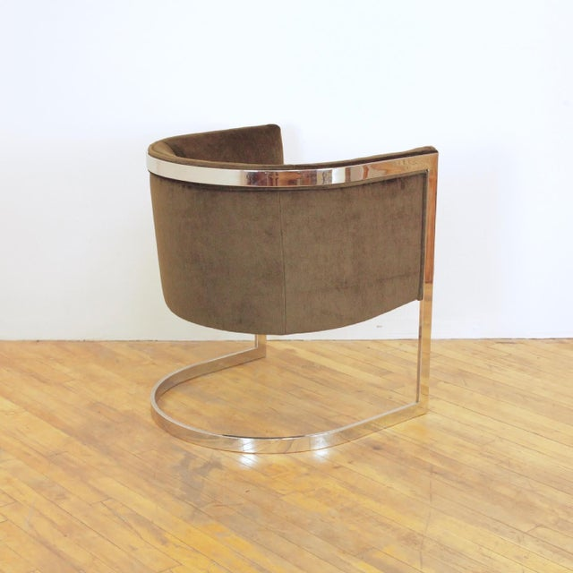 Metal 1970s Vintage Metropolitan Barrel Lounge Chairs - a Pair For Sale - Image 7 of 11