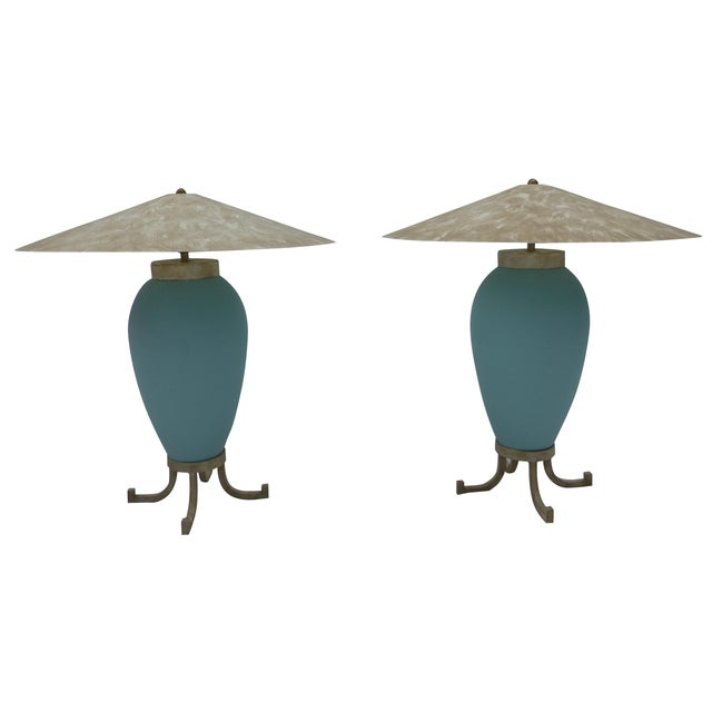 Karl Springer Murano Glass Table Lamps - A Pair - Image 1 of 8