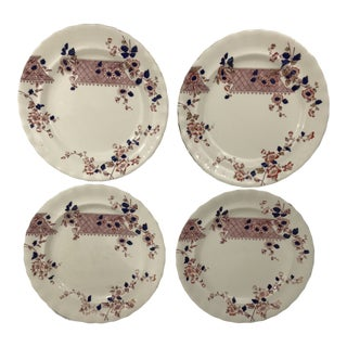 Imari Style Chinoiserie Dinner Plates - Set of 4 For Sale