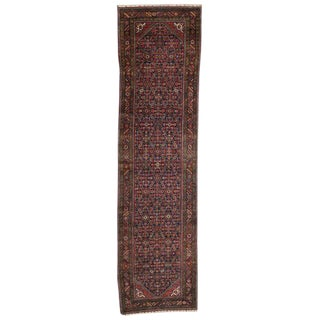 20th Century Persian Hussainabad Hamadan Runner - 3′9″ × 14′1″ For Sale