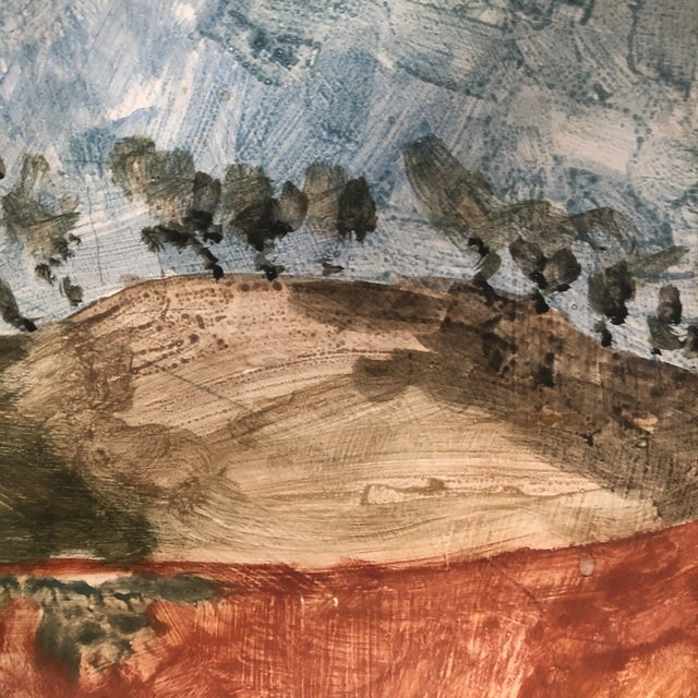 1958 Original Tom Van Sant California Landscape Painting, Signed and Dated For Sale In Los Angeles - Image 6 of 9