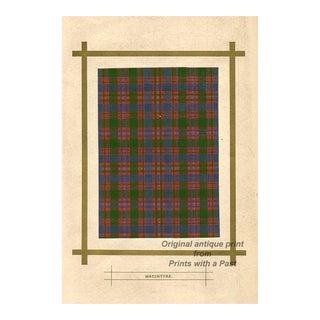 Scottish Tartan Print, Macintyre For Sale