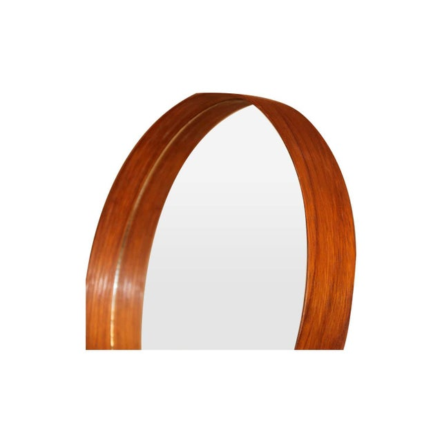 A fabulous table mirror designed by Uno and Östen Kristiansson for Luxus, Sweden, 1960. Remaining in gorgeous condition....