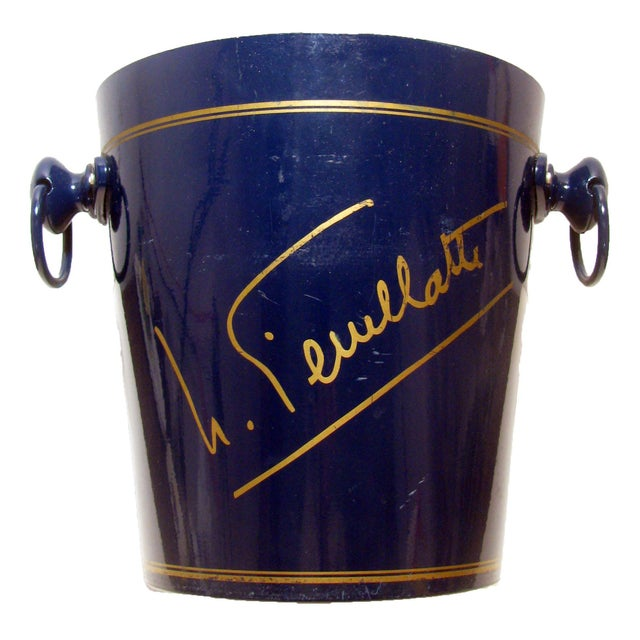 French French Navy Blue Champagne / Ice Bucket For Sale - Image 3 of 3