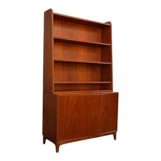 Vintage Midcentury Modern Swedish Bookcase by Brantorps For Sale
