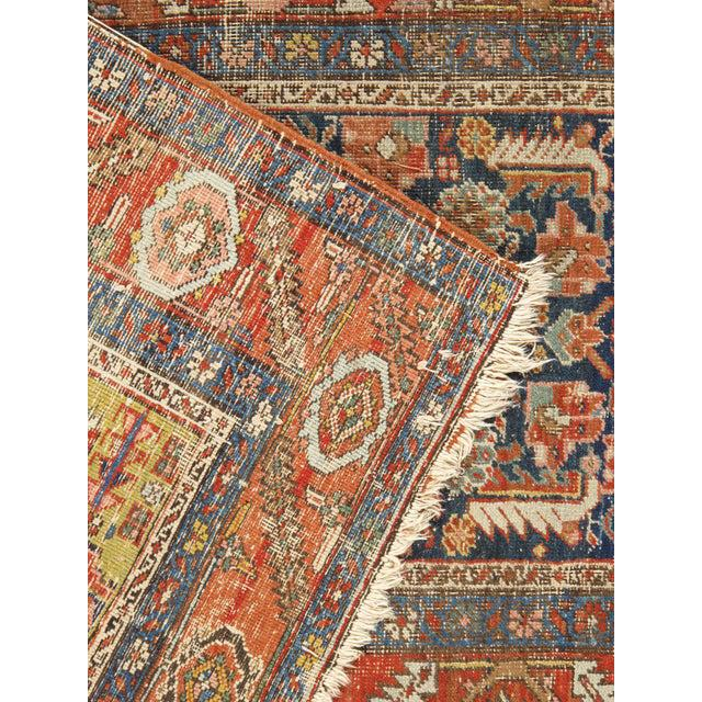 "1900 - 1909 Antique Heriz Hand Woven Runner, 3'1"" X 13'3"" For Sale - Image 5 of 6"