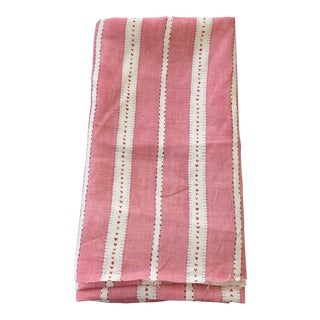 """Schumacher Raspberry """"French Revolution Amour"""" Linen Fabric For Sale"""