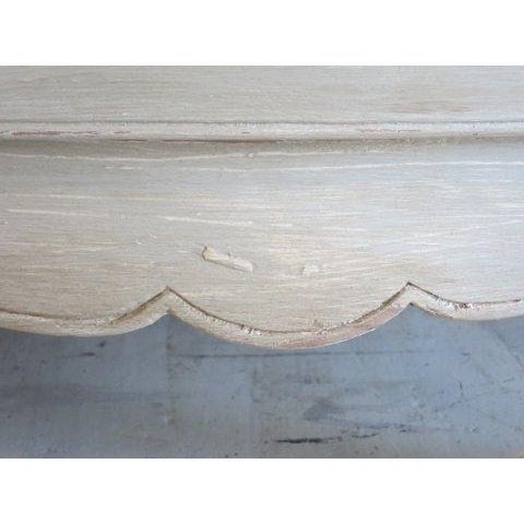 Antique Louis XV Weathered Grey Refinished Dresser - Image 6 of 8