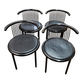 Mid-Century Helmut Lubke Dining Room Chairs - Set of 4 For Sale