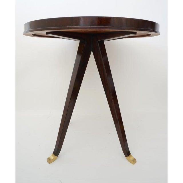 2010s Vintage Lucien Rollin for Switzer Center Table Art Deco Revival For Sale - Image 5 of 12