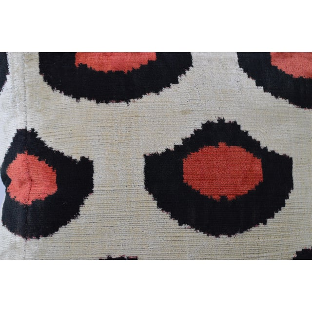 Boho Chic Red & Black Dot Pillow With Insert For Sale - Image 3 of 7