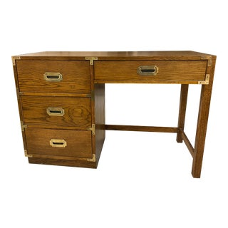 1970s Bernhardt Campaign Desk For Sale