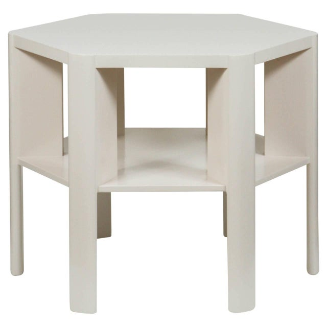 Wood Minimalist Modern Lacquered Library Table by Martin and Brockett For Sale - Image 7 of 7