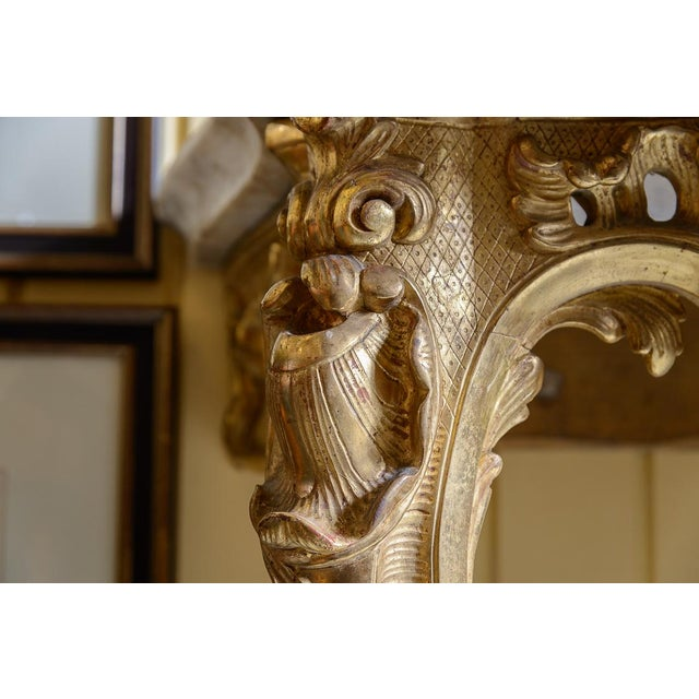 French, Gilt Console Table For Sale In West Palm - Image 6 of 9